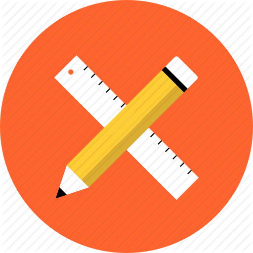drawing_ruler_pencil_development_prototyping_sketching_design_web_education_tools_technical_sketch_measurement_instrument_geometry_math_work_flat_design_icon-512